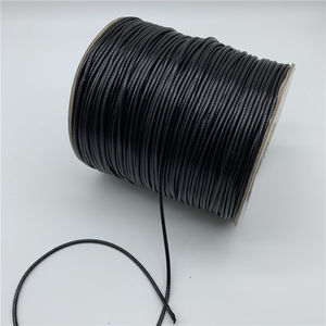 0.5mm 0.8mm 1mm 1.5mm 2mm Black Waxed Cord Waxed Thread Cord String Strap Necklace Rope For Jewelry Making