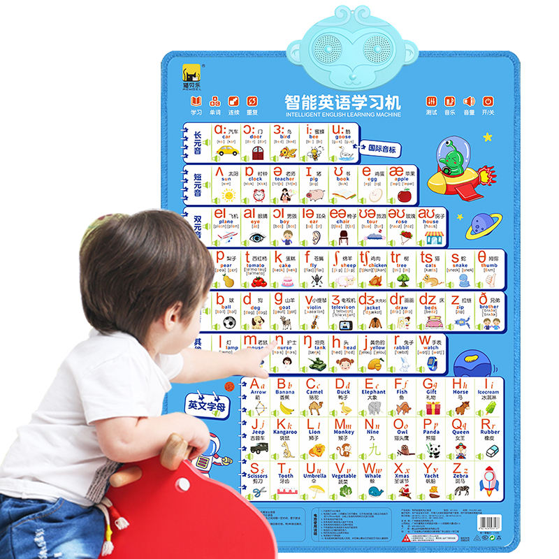 customized oxford fabric kids education toys educational wall charts English Talking Chart wall chart