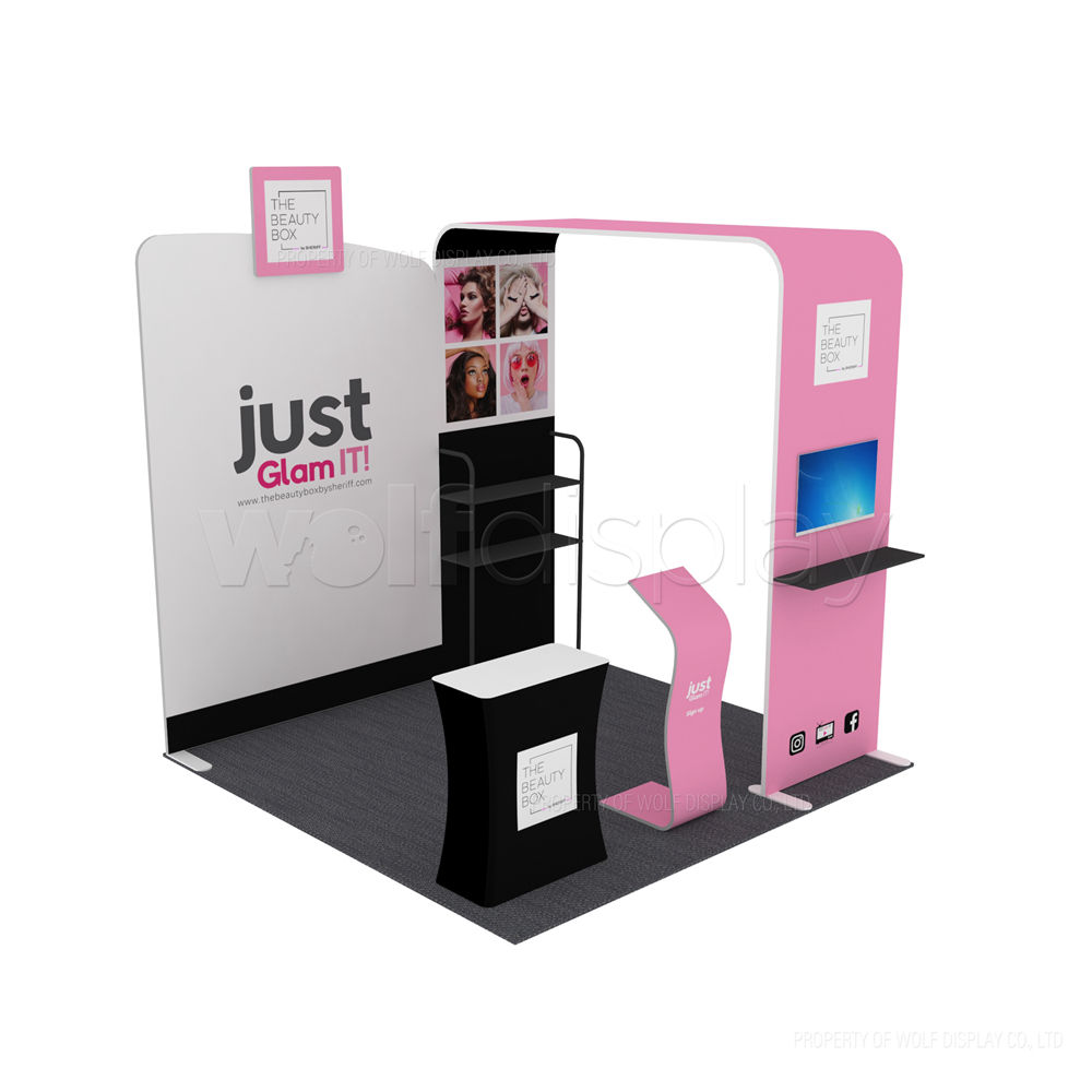 Trade Show Booth Stand Pameran 10X10 Kosmetik Display Booth