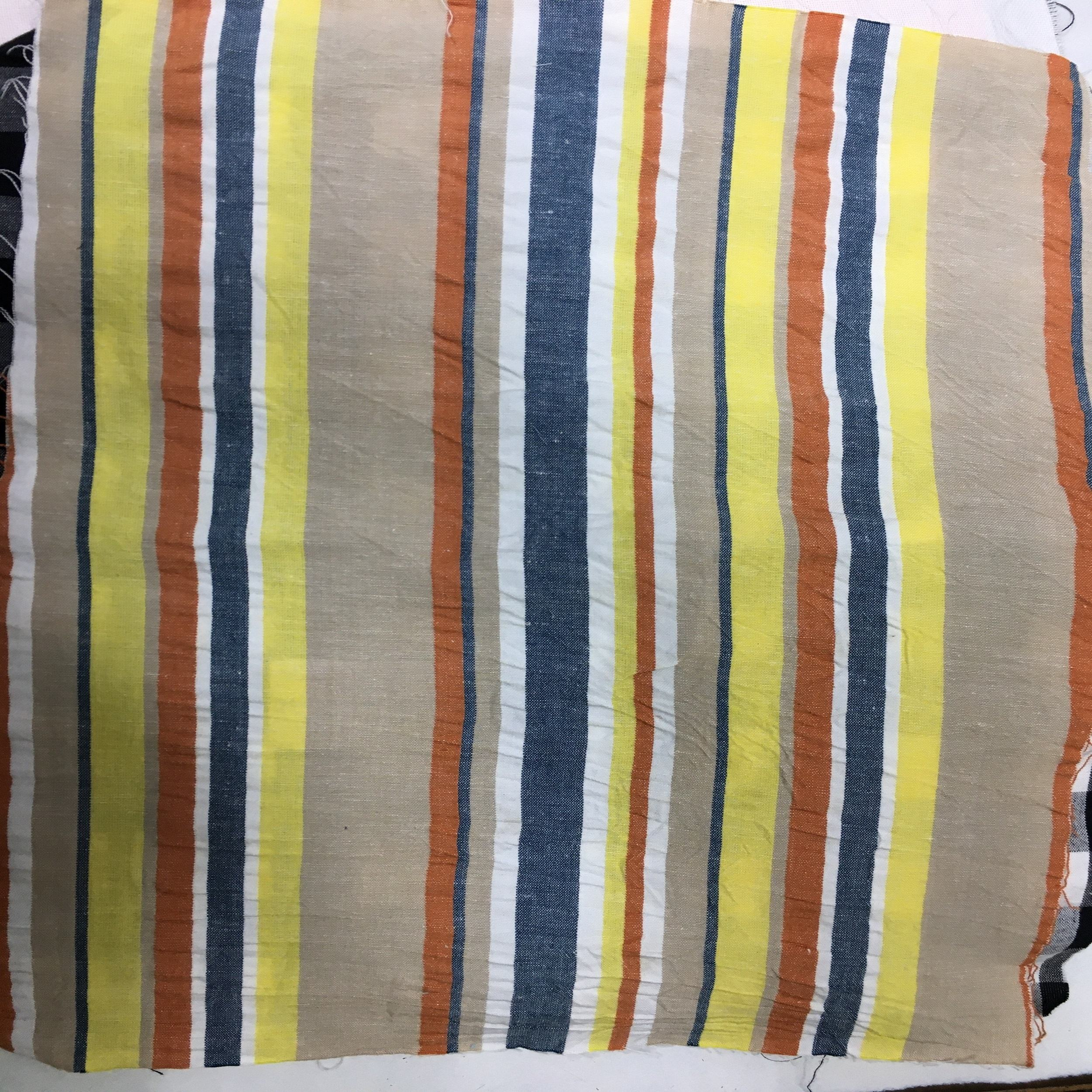 YARN DYED ORGANIC COTTON STRIPE FABRIC MADE IN INDIA, YARN DYED COTTON WITH GOTS CERTIFICATION