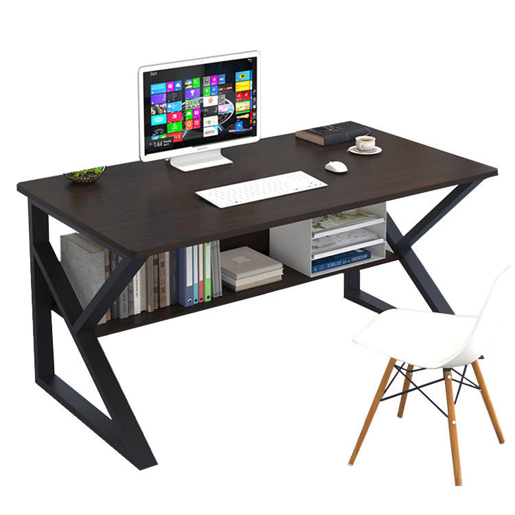 Computer desk table personal working space size customizable black