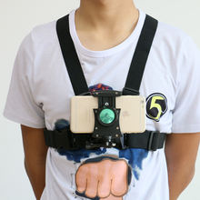 Wholesale  2020 smartphone Chest Belt mount Strap Harness Mount phone holder Camera  Mount + Quick Clip for gopros phone