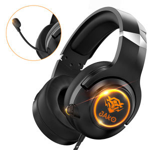 JAKO T1 Stereo Studio Luminous Earphones Pc Headset Wired Headphone Usb With Mic For PS4 PS5