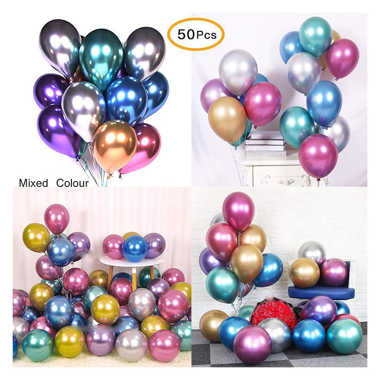 Partycool Günstige Großhandel Metalizados Globos Geburtstag Dekoration Chrom Party Latex Metallic Ballon