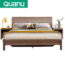 Wholesale Factory Price Wooden Furniture Bed Designs Double Solid wood bed designs