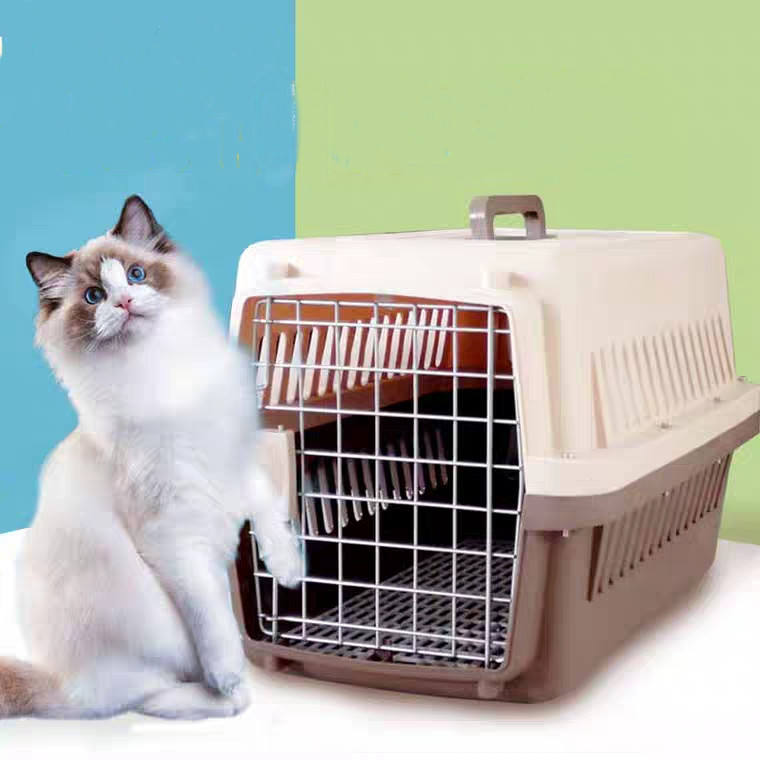 Factory wholesale high quality plastic airplane pet cage travel crate