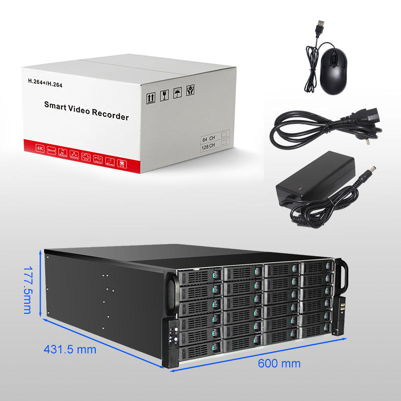 Powerful storage capabilities with intelligent analytical system 64CH 128Channel 4K NVR