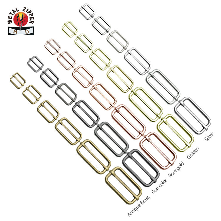 Factory Custom Metal Slider Buckle Hardware Cheap Adjustable Buckle Tri-Glide Buckles for Bags