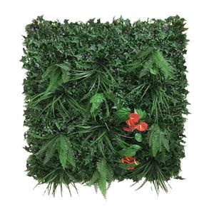 UV Outdoor Fake Grass Hedge Jungle Vertical Plants Wall Artificial Wall Hanging Plant Green Grass Wall for Home Decoration