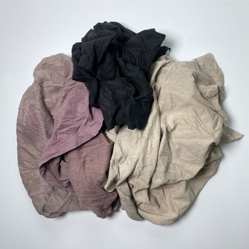 Industrial Recycled Textile Waste Fabrics Lumpen Rags For Machine Wiping