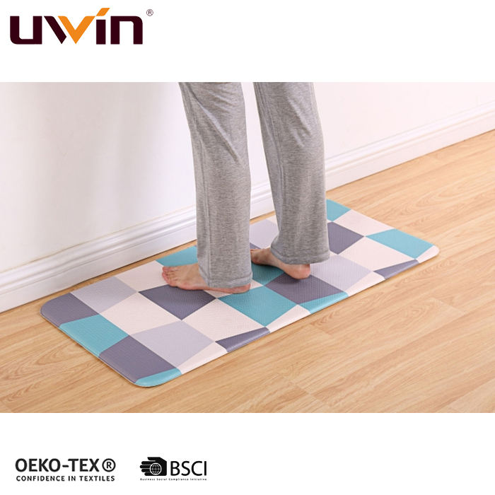 Uwin 2020 PU Kitchen Mat office Standing anti fatigue comfort floor mat