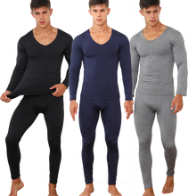 2019 Men's Ultra Soft Thermal Underwear Long Johns Set with Fleece Lined O-neck Long Sleeves Winter Clothing Plus Size L- 5XL