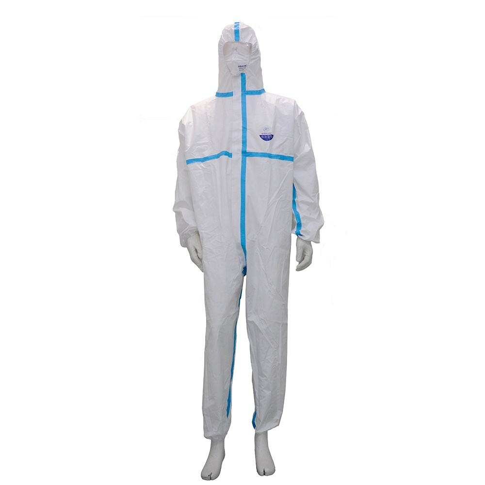 Full body personal protection equipment medical coverall disposable protective suit