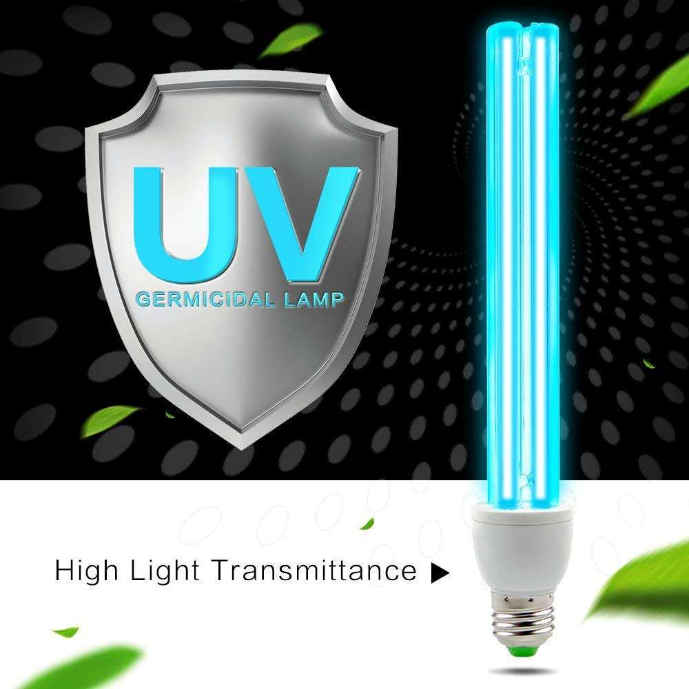 UVC Compact Germicidal Lamp Room Disinfection Deodorizer Air Clean Kill Bacterial Dust Mites Remove Sterilizer Light Bulb