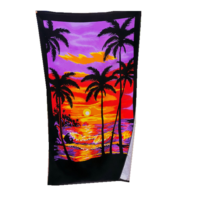 Hawaii Design Custom Printed Velour Beach Towel For Summer