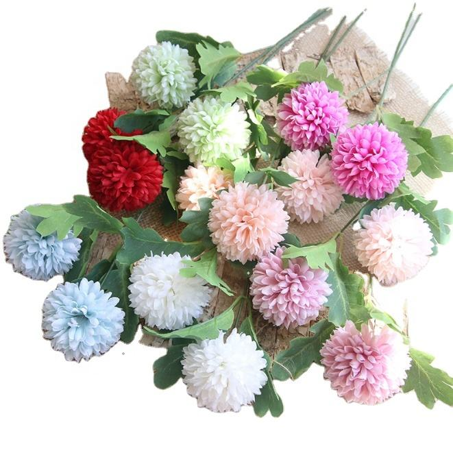 FCR1301amazon hot sale chrysanthemum artificial flower ball for decor