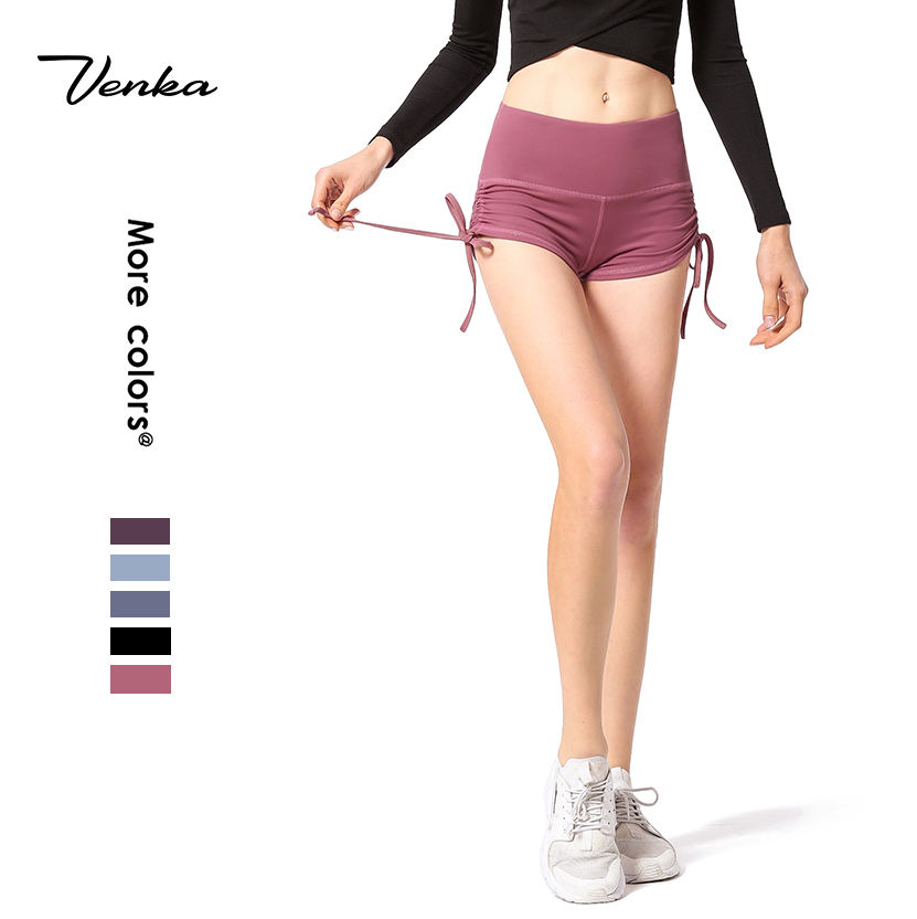 Women Custom Fitness Yoga Wear Yoga Short Pants Hot Pants Active Stretch Fashion Sexy Womens Gym Shorts