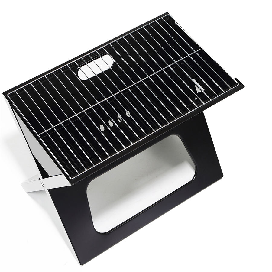 Toast bbq x type portable black small size enamel baking easily asssembled foldable grill for garden