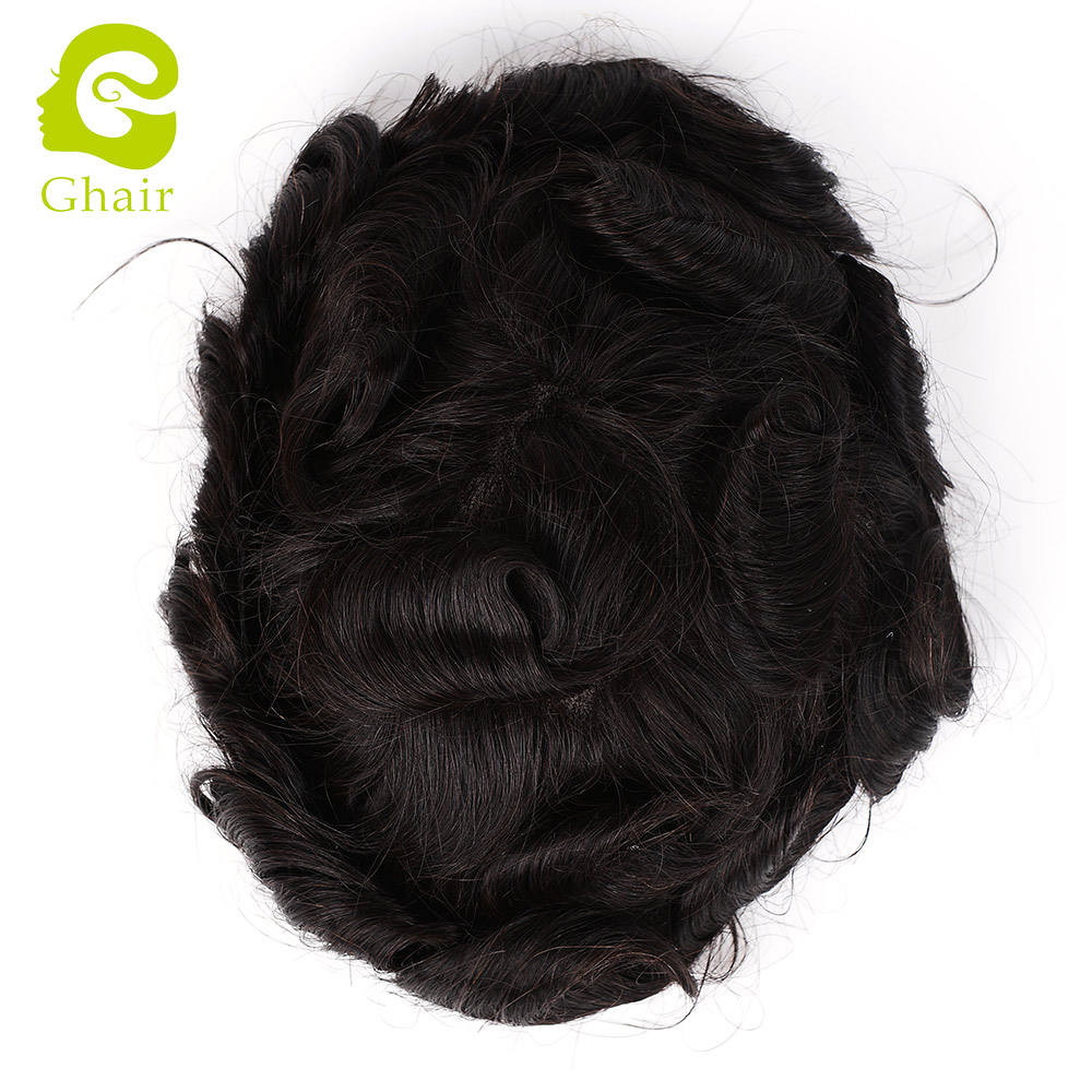 best selling 2019 mono top toupee hair replacement men toupee wavy