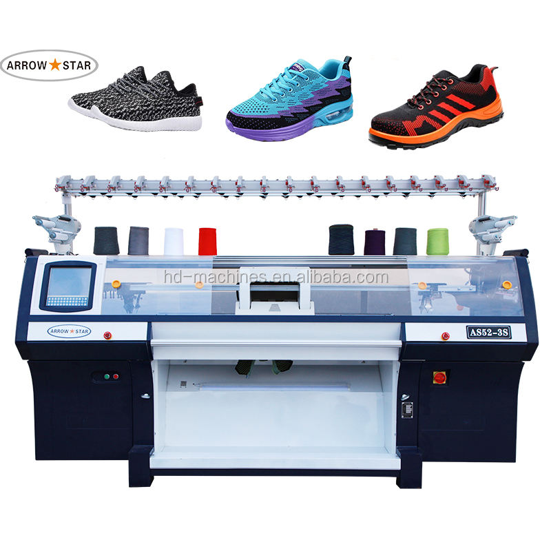 3D flyknit Fully Computerized flat type Shoes Upper Knitting Machine