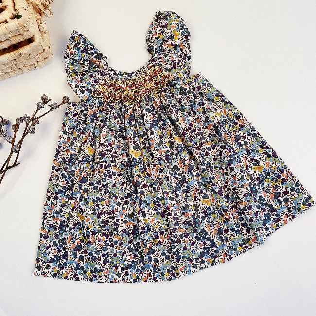 PHB 11732 Spanish design sleeveless styles baby girls wholesale floral dress 2022