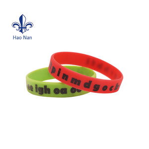 Fashion bracelet Rubber bracelet silicone wristband With Logo silicone rubber custom wristbands