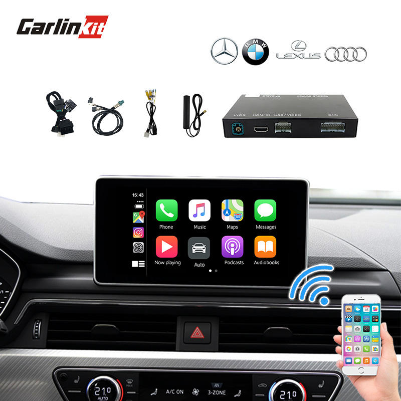 Wireless multi media multimedia interface apple for carplay Audis Benz BMW Lexus
