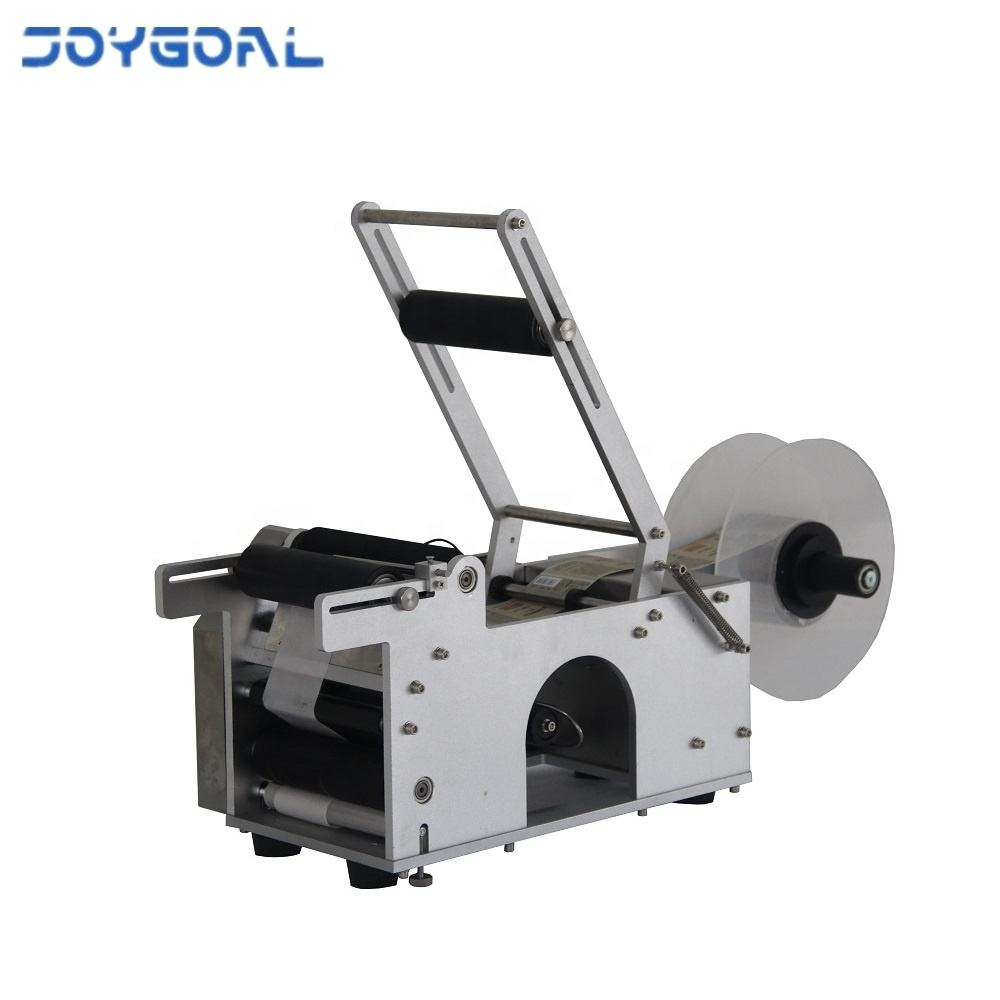 Shanghai factory semi automatic manual small round bottle sticker labeling machine