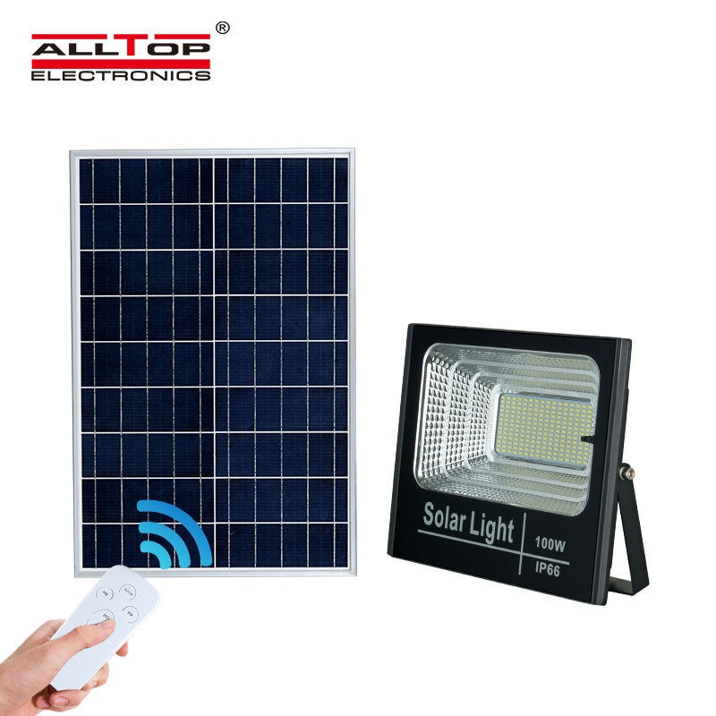 ALLTOP IP65 waterproof outdoor portable 24 40 60 100 watt solar led flood light