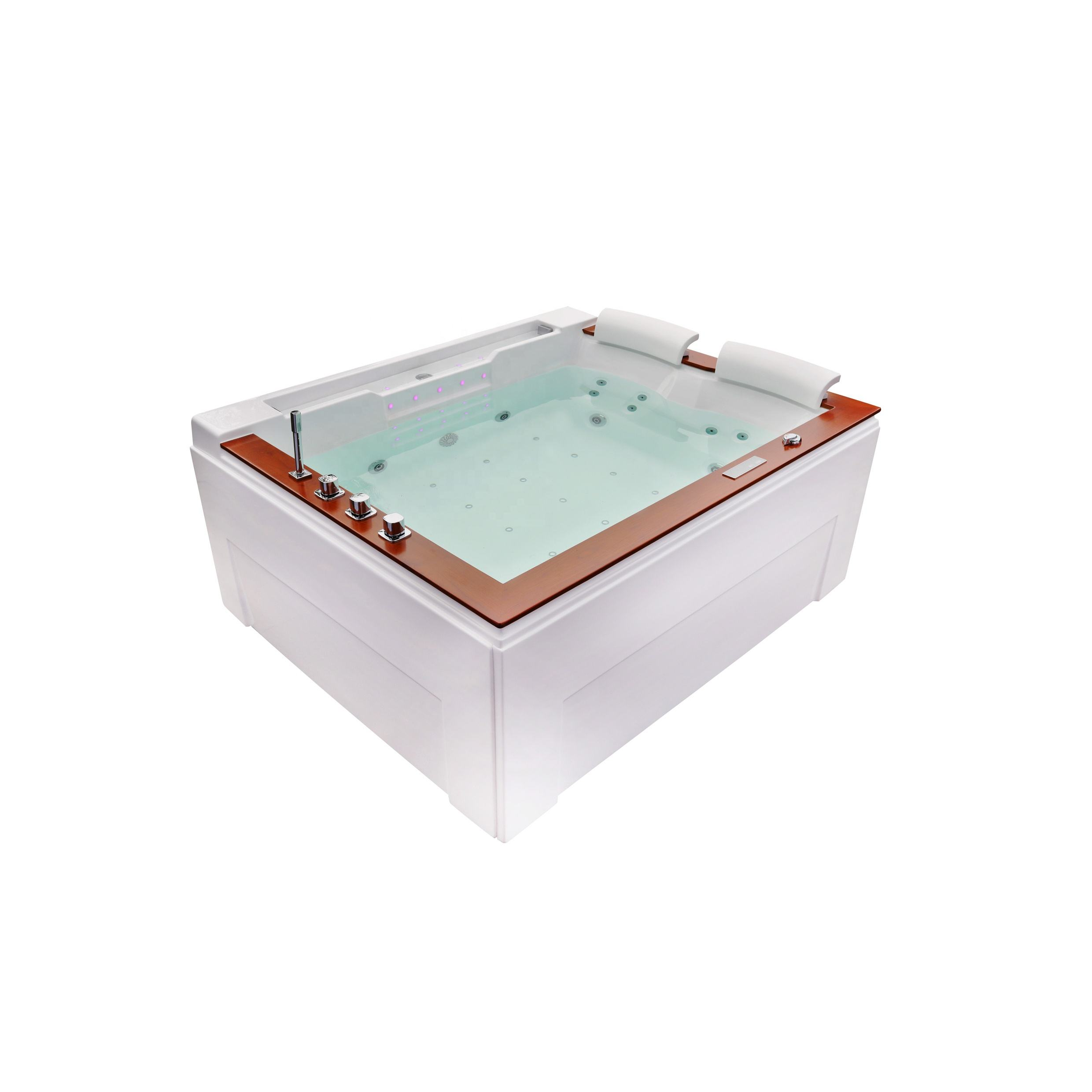 apollo massage bathtub 2 sided skirt bathtub with screen control panel Spa Hot Tub 52 inch bathtub