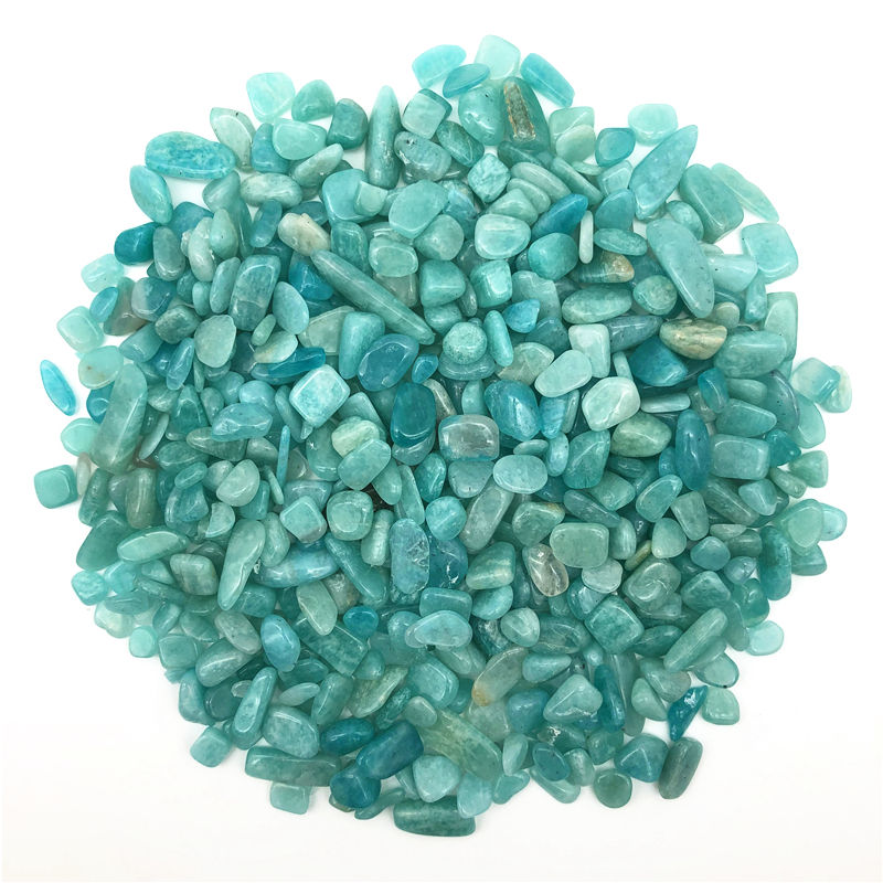 Amazonite loose natural chips from natural agate and crystal