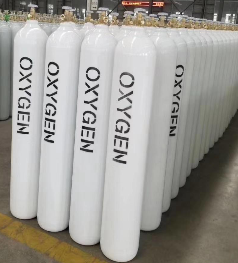 China Manufacturers Wholesale 40L 44.5KG High Pressure Oxygen Gas Cylinder Medical Oxygen Tank