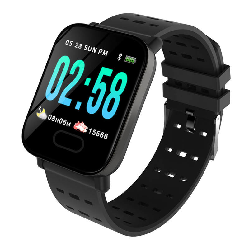 Amazon Hot sale A6 blood pressure sports smart bracelet color screen fitness tracker pedometer smart watch 5.01 Reviews