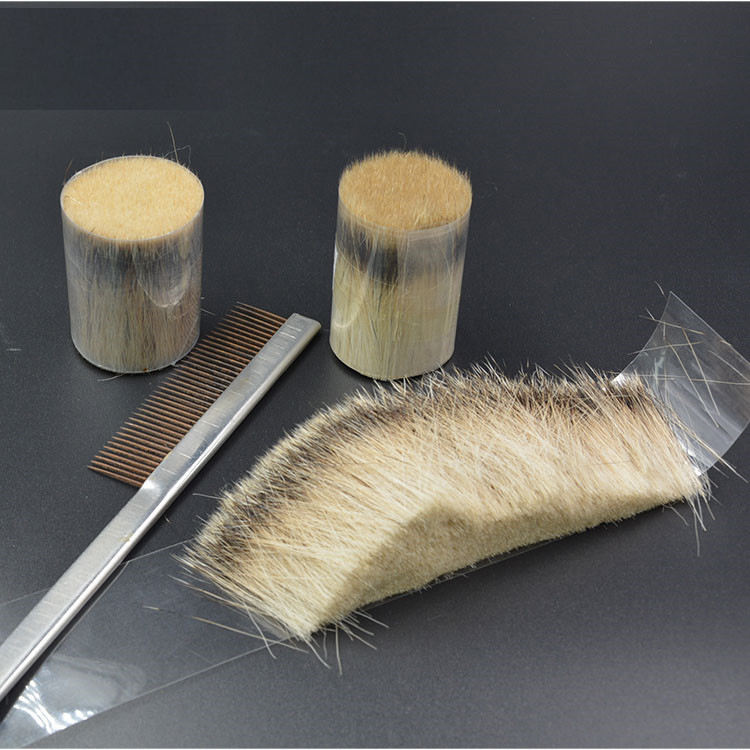 silvertip& two band badger hair knot shaving brush knots ,loose badger hair manufacturer