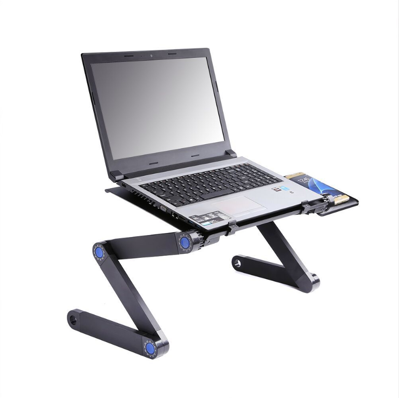 Wholesale Portable vertical moft Folding Holder ventilated Adjustable Sofa Bed metal aluminum foldable Computer Laptop Stand