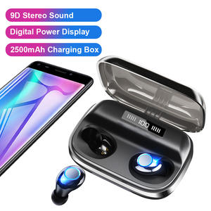 Free Shipping 2500mAh Wireless Earbuds Bluetooth Headphone 5.0 Gaming Headset TWS Wireless Earphones