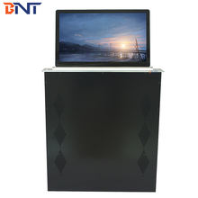 21.5inch meeting table lcd monitor  lift for conference video  room