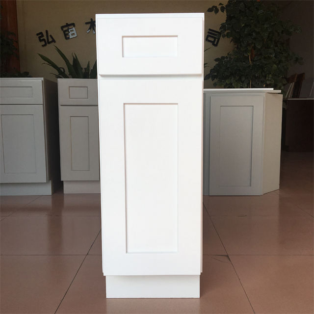 Hot Sell American Style White Shaker Base Cabinet With One Drawer-One Door-One Adjustable Shelf In Kitchen Cabinet