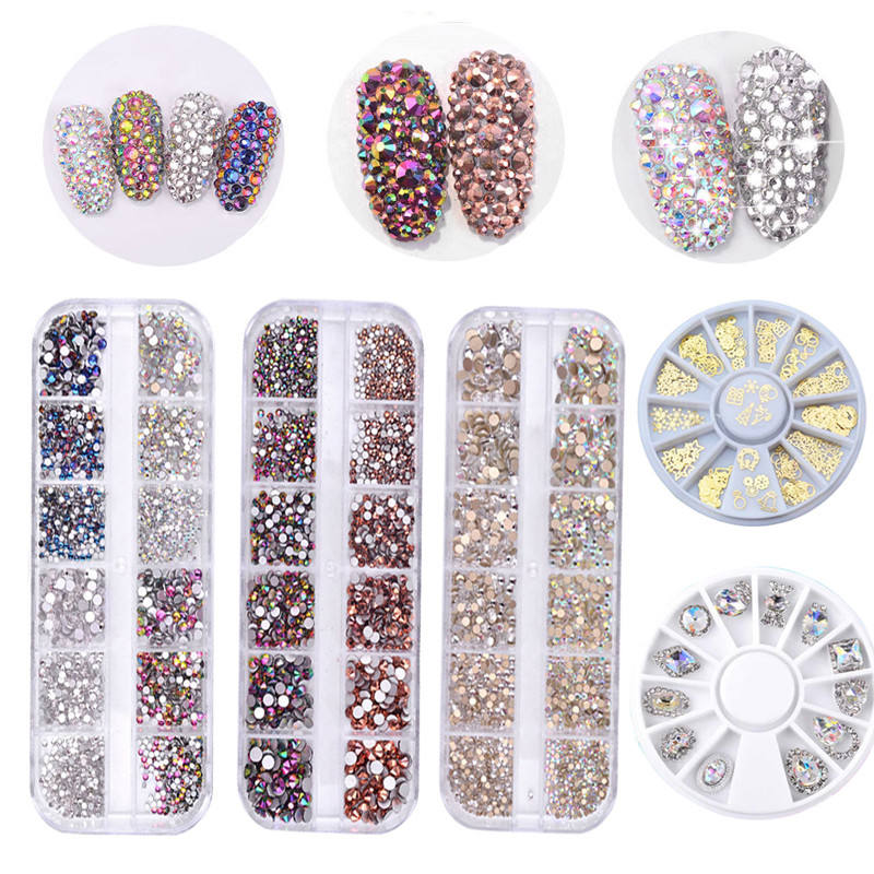 Hight Quality Multi Size Glass Crystal Rhinestone Stone Decoration Design Flatback Nail Art