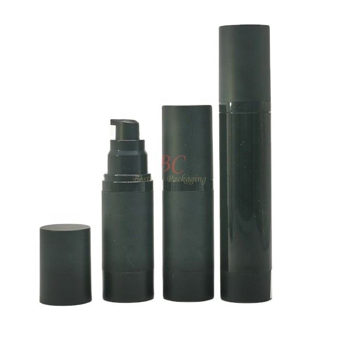 luxury plastic spray small 15ml 20ml 25ml 30ml 40ml 60ml 80ml 100ml 120ml 100 ml 50 ml cosmetic matte black airless pump bottle