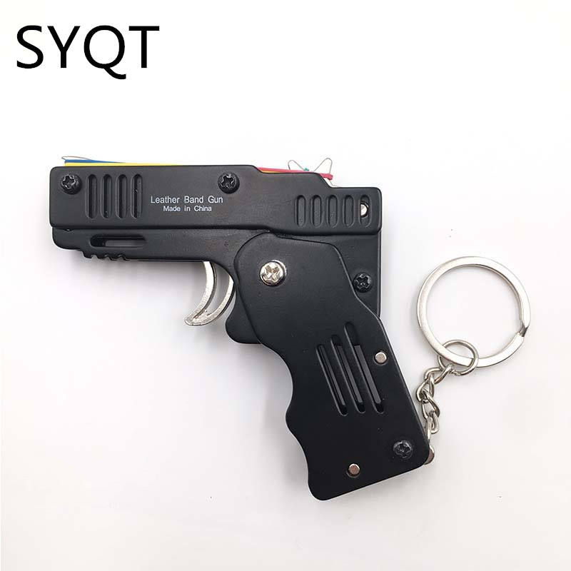 MINI Rubber Band Gun Foldable High Quality Outdoor Tools Mini Rubber Band Gun Child Gift Toy Continuous Hair Toy Pistol