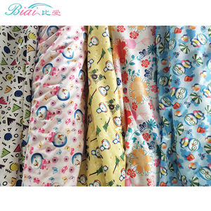 waterproof 100% polyester printed PUL fabric stock for baby diaper in knitted fabric DIY Materials for reusable nappies