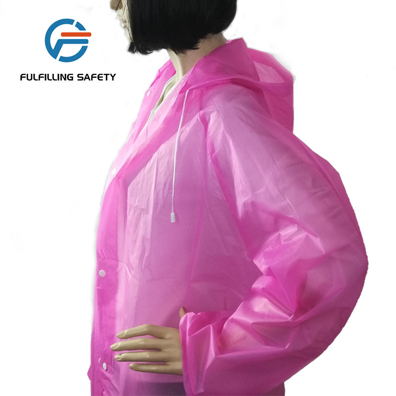 top selling rubber cheap portable emergency custom made eva raincoat