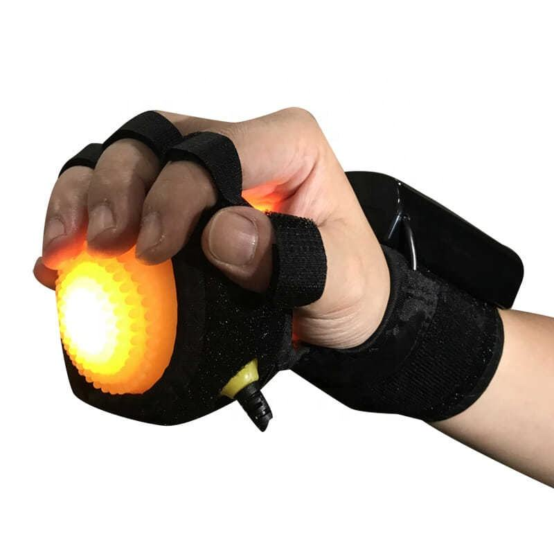 Massage Therapy Rehabilitation Spasm Dystonia Hemiplegia Stroke Rechargeable Infrared Hot Compress exercise Hand Massager Ball