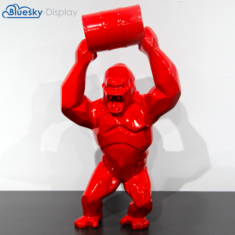 High quality Gorilla Richard Orlinski Wild Kong sculpture resin abstract King Kong statue
