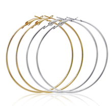 Women Jewelry Gold Plated Oversized Stainless Steel Big Hoop Earrings