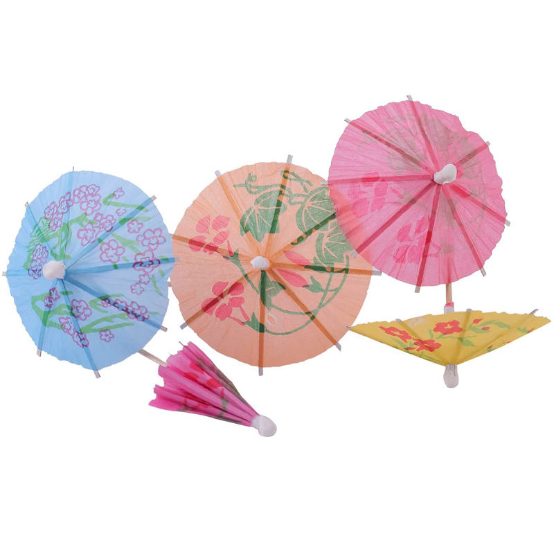 Newell A Party Decor Sticks Bamboo Christmas Floral Umbrella Picks For Travel