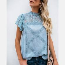 Fashion Clothing Shirt Women Blouse Summer Womens Tops And Blouses Lace Patchwork Blusas