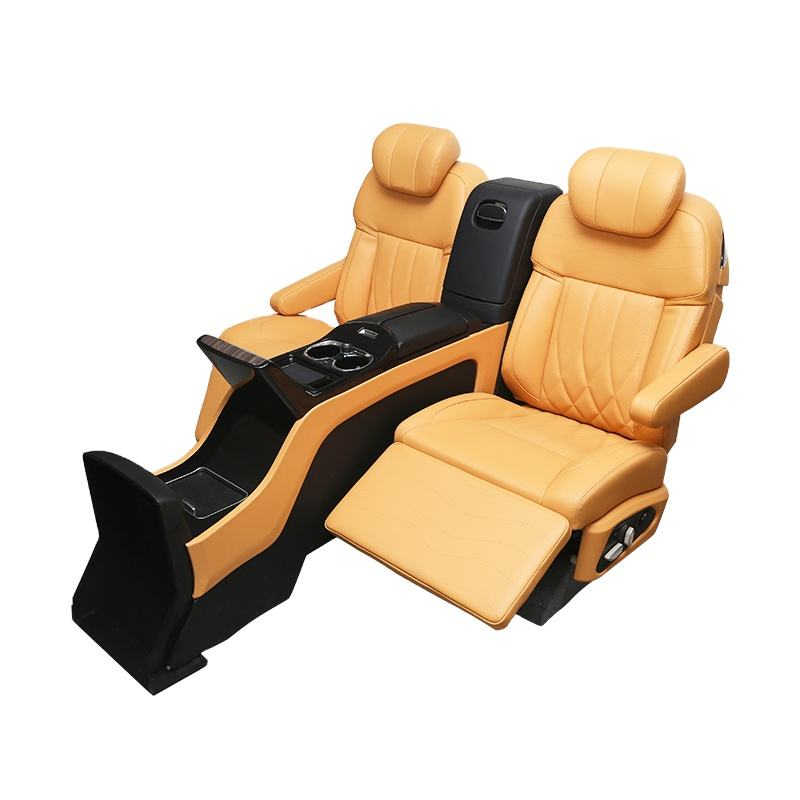 Electric Adjustable VIP Leather Luxury suv auto Car Seats with console armrest touch screen smart system