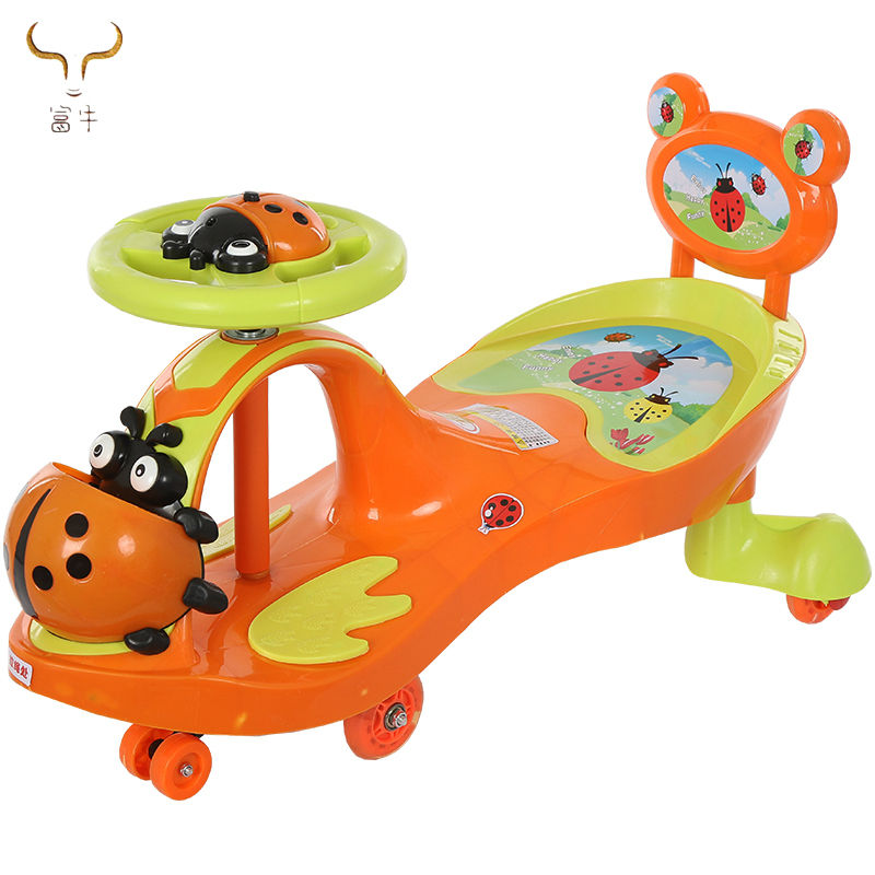 Ride on toys kids swing twist car for Baby Rocker Swing/Cartoon Toy Car with Music Light/Children Swing Car Twist cars for sale
